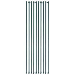 Lumarko Słupki ogrodzeniowe, 10 szt., 1,5 m, metalowe, zielone