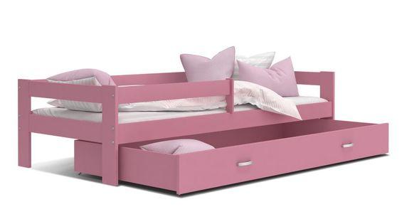 Łóżko dla dzieci HUGO 160x80  szuflada + materac 4 KOLORY