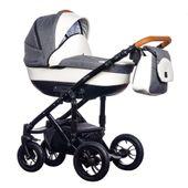 New Melody Paradise Baby szaro biały wózek dziecięcy wielofunkcyjny gondola + stelaż