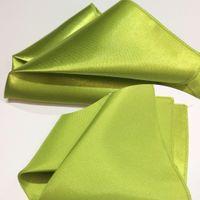 Poszetka satynowa zielona, pistacjowa