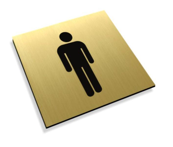 Tabliczki informacyjne na drzwi piktogram toaleta męska grawer zdjęcie 1