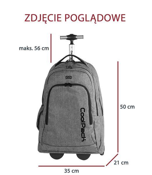 Plecak młodzieżowy na kółkach Coolpack Snow Blue 76272CP zdjęcie 3
