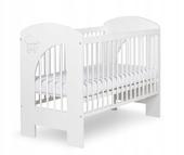 KKlupś łóżeczko Nel CHMURKA biały 120x60cm