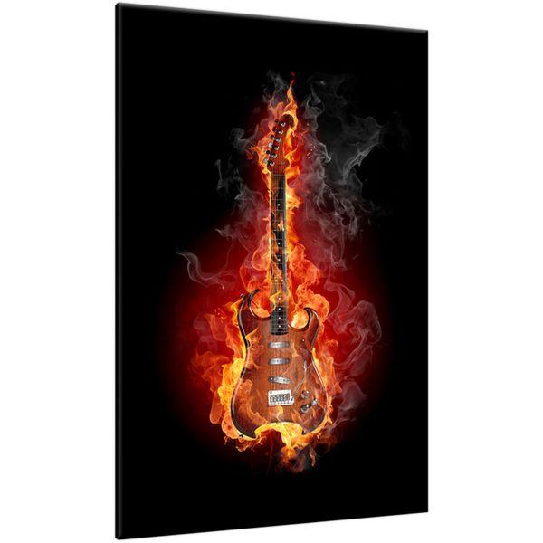 Obraz Na Ścianę 60X90 Rock And Fire Gitara Gitara zdjęcie 1