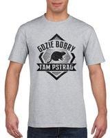 Koszulka męska GDZIE BOBRY TAM PSTRAG s XL