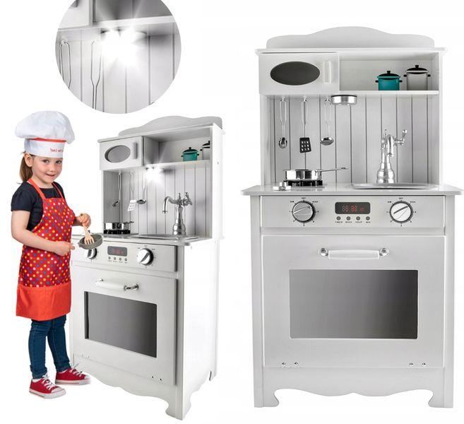 Kuchnia Drewniana Dla Dzieci z Oświetleniem LED Tort Fartuszek U31Z zdjęcie 4