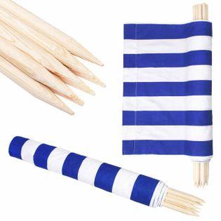 Parawan plażowy 12m niebieskie pasy