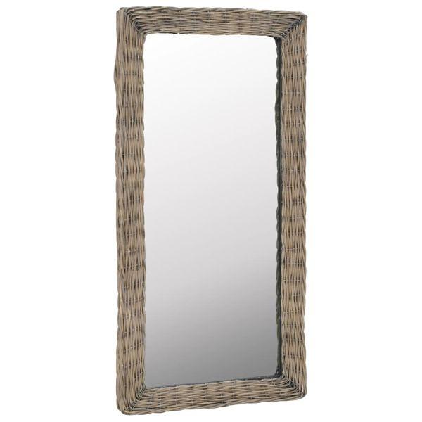 Lustro W Wiklinowej Ramie, Brązowe, 50 X 100 Cm zdjęcie 2
