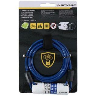 Dunlop - Zapięcie rowerowe linka na szyfr (Niebieski)
