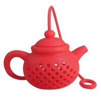 Zaparzacz do herbaty - Czajnik (Silikonowy) Czerwony
