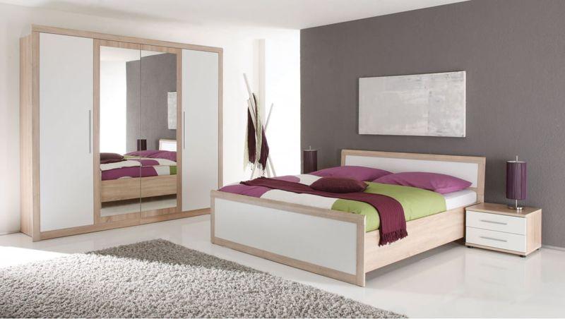 Zestaw Mebli Do Sypialni Biały łóżko Belinda Brw