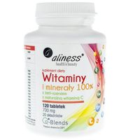 Aliness Witaminy i minerały 100% 700 mg - 120 tabletek