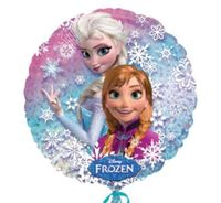 Balon foliowy okrągły Kraina Lodu Anna Elsa Frozen