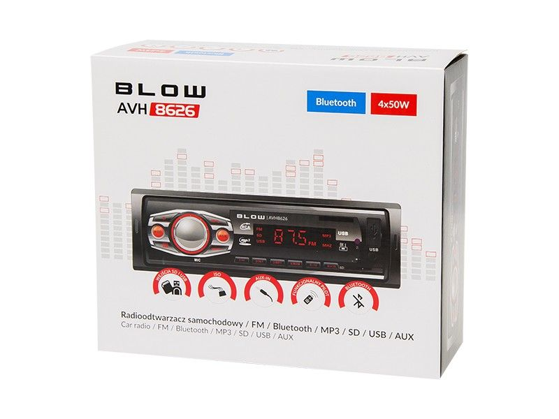 Radio samochodowe BLOW AVH-8626  Bluetooth na Arena.pl