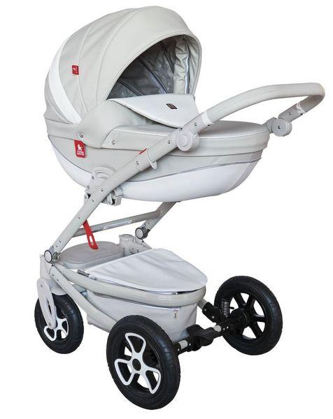Szary wózek dziecięcy wielofunkcyjny Timer Eco Tutek w zestawie 3w1 zdjęcie 1