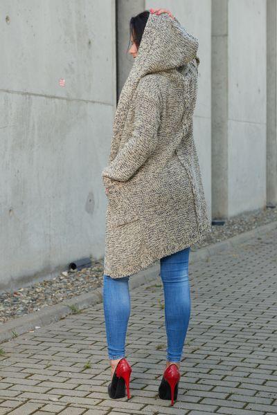 Mięciutki otulający Kardigan sweter melanż 103 zdjęcie 10