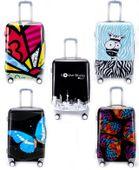 Mała Walizka Podróżna Turystyczna Bagaż na Kółkach 65x40 cm Wzory