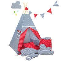 Namiot tipi dla dziecka Marynarski Sen - zestaw mini