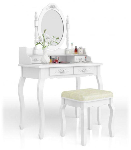 Toaletka Kosmetyczna Duże Lustro + Hoker 001 zdjęcie 1