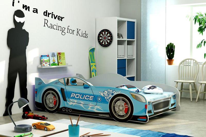 Łóżko AUTO dla dzieci CARS 160x80 + STELAŻ GRATIS zdjęcie 2