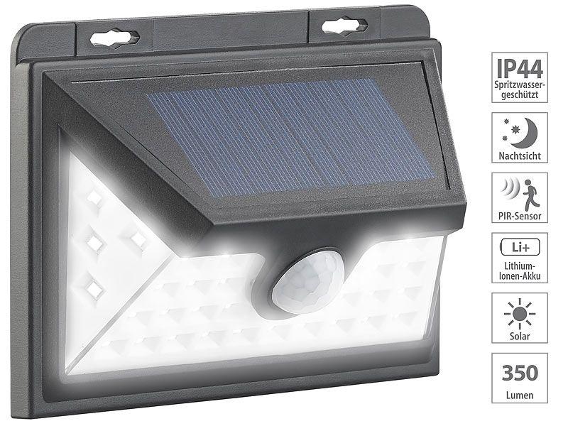 Kinkiet solarny LED z czujnikiem ruchu 350 lm / 7,2 W Luminea WL-735.s zdjęcie 4