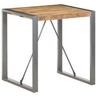 Stół jadalniany, 70x70x75 cm, lite surowe drewno mango