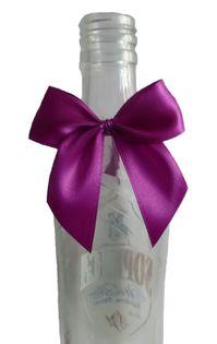 Zawieszki na alkohol, butelkę, wódkę weselną kokardki na gumce 10 szt