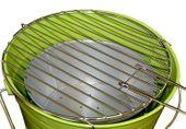 Grill ogrodowy wiaderko mini BBQ przenośny zielony D27146 zdjęcie 2