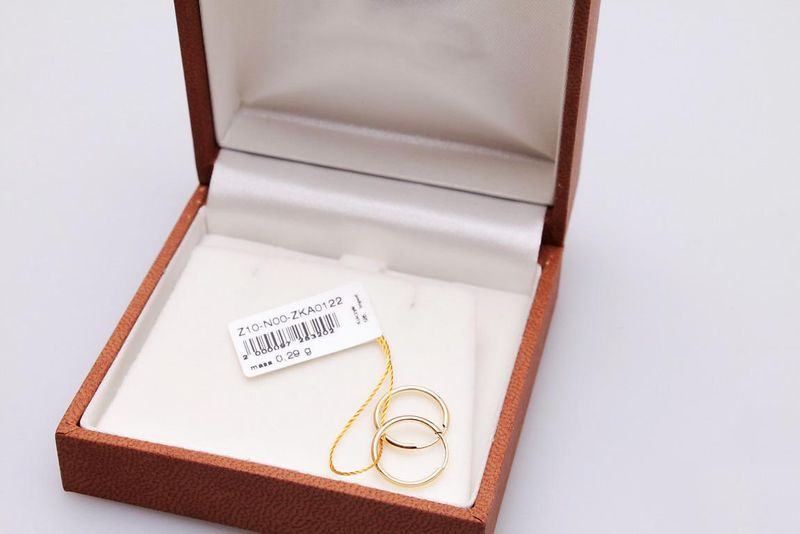 kolczyki złote KÓŁKA 1.2cm zdjęcie 3