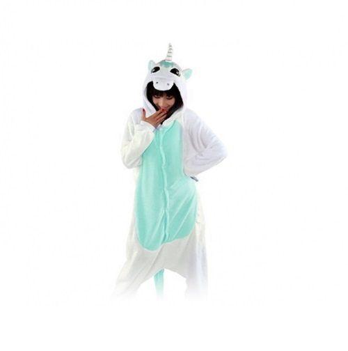 Niebieski jednorożec Kigurumi Onesie dres piżama kombinezon S zdjęcie 1