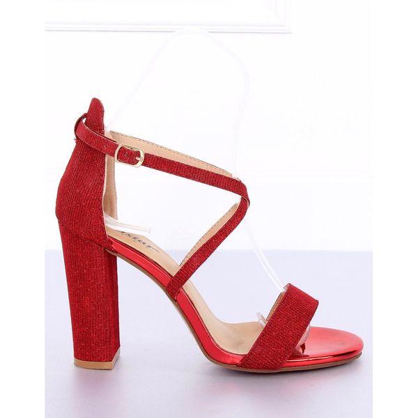 Sandałki na słupku czerwone NC791 Red r.36 zdjęcie 1