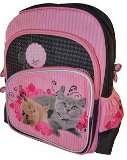 Chic Cat Plecak szkolny dwukomorowy pink