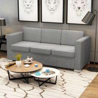 3 osobowa sofa tapicerowana jasnoszara