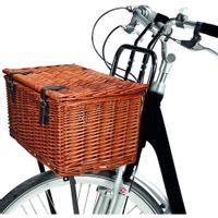 Koszyk rowerowy wiklinowy przód 45x30x25cm