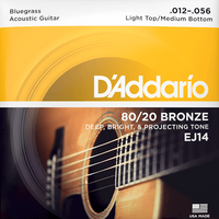 Struny do gitary akustycznej Daddario EJ14 12-56