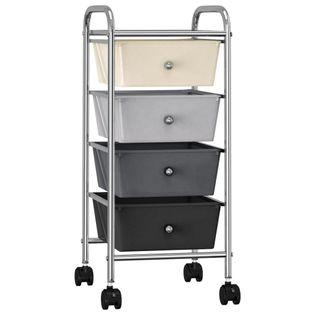 Wózek z 4 szufladami ombre plastikowy VidaXL