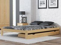 Ekologiczne Łóżko IRYS sosna 90x200 + stelaż elastyczny