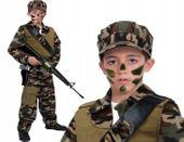 Przebranie Siły Specjalne ŻOŁNIERZ Strój Karnawałowy 104
