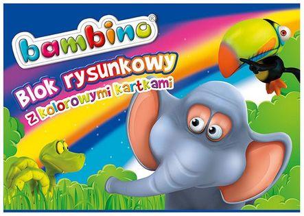 Blok rysunkowy A4 kolor 16 kartek BAMBINO 5002878