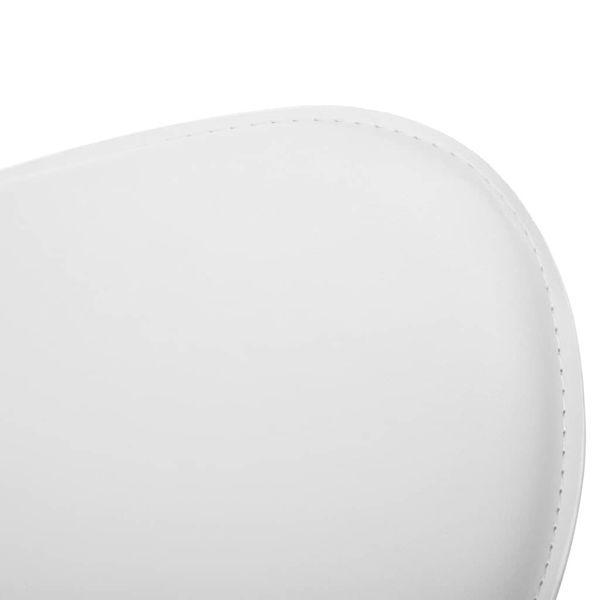 Krzesło kosmetyczne, obrotowe, sztuczna skóra, białe zdjęcie 5