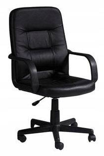 Fotel do biurka Q-084 CZARNY eko skóra SIGNAL