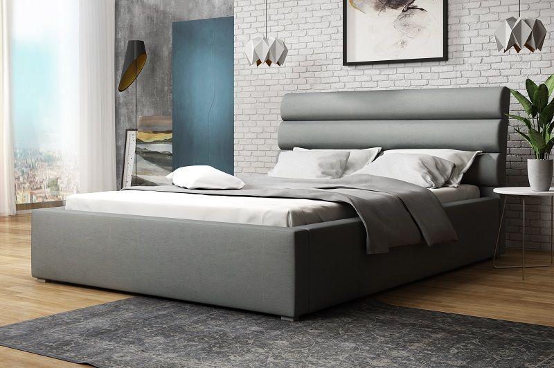 Łóżko tapicerowane 180x200 zagłówek pojemniki ogranicznik MARK zdjęcie 3