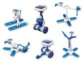 ROBOTY SOLARNE 6W1 - SOLAR KIT - WIATRAK, HELIKOPTER, AUTO, ROBOT