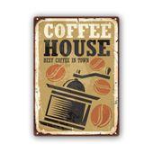 Wydruk na metalu, Retro – młynek do kawy 30x40 zdjęcie 1