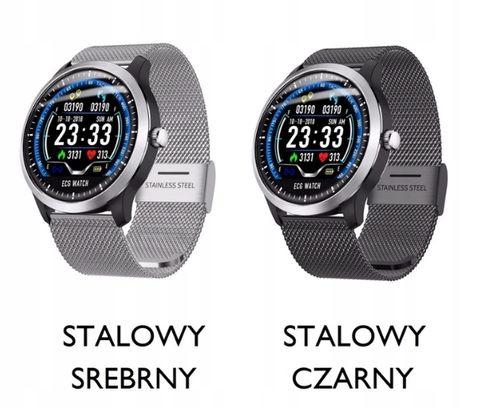 Ciśnieniomierz EKG SMART Zegarek PULS CIŚNIENIE na Arena.pl