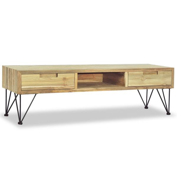 Szafka pod telewizor, 120 x 35 x 35 cm, lite drewno tekowe zdjęcie 5
