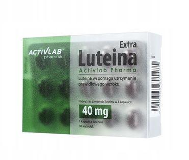 Luteina EXTRA Mocny Zdrowy Wzrok 40mg 30 kapsułek