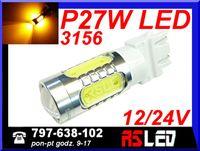 żarówka LED P27W 3156 kierunki USA T25 przebija czerwony klosz odp 45W