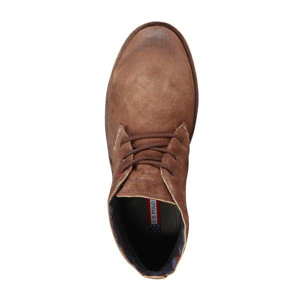 2e6d78117dff8 U.S. Polo skórzane buty sztyblety męskie brązowy 41 • Arena.pl