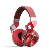 CZERWONE słuchawki bezprzewodowe bluetooth BLUEDIO T2+